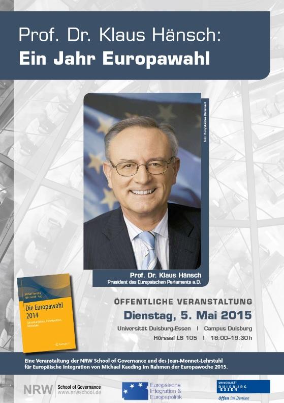 Prof. Dr. Klaus Hänsch ©Europäisches Parlament.
