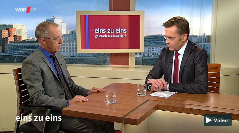 Prof. Dr. Karl-Rudolf Korte zu Gast in der Sendung 'Eins zu Eins'. (c) WDR