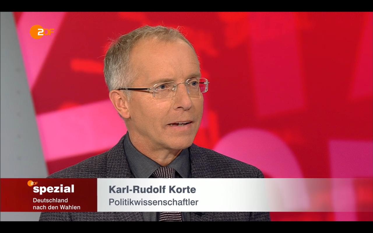 Karl-Rudolf Korte im ZDF Spezial