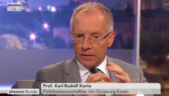Diskutierte in der phoenix Runde: Prof. Dr. Karl-Rudolf Korte