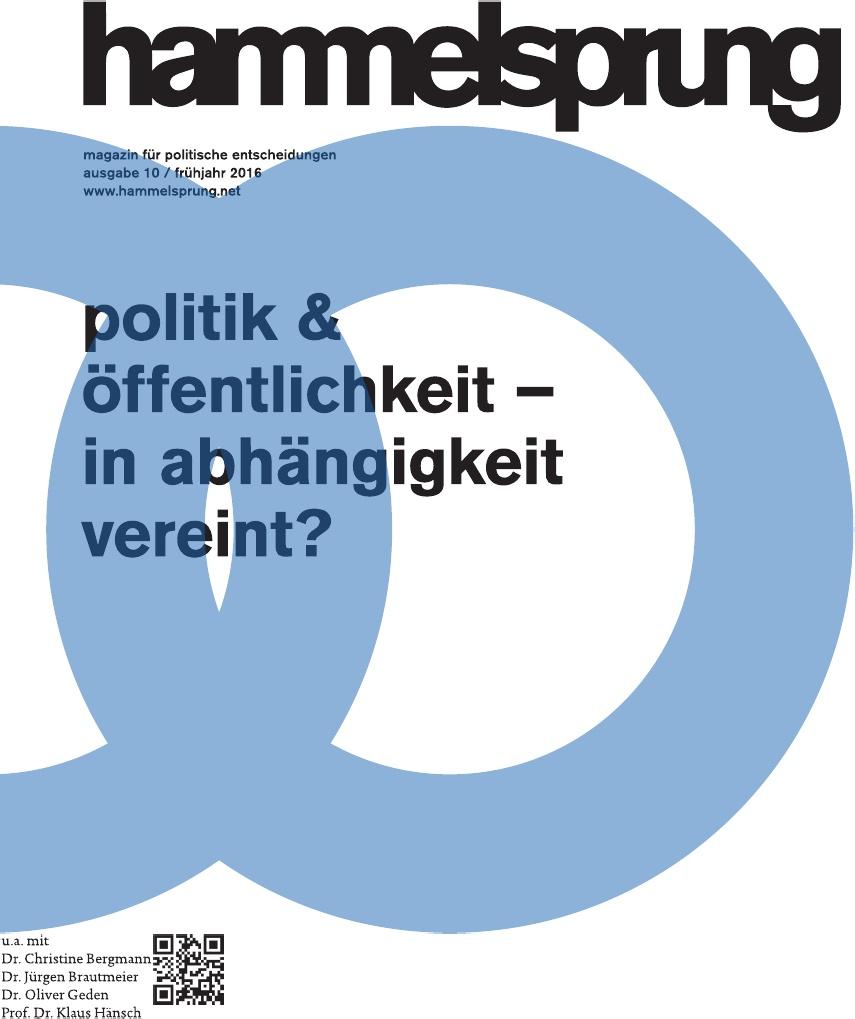 10. Ausgabe des hammelsprung: Politik und Öffentlichkeit