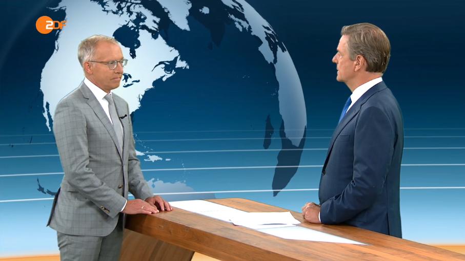 Prof. Dr. Karl-Rudolf Korte zu Gast im ZDF heute journal (c) ZDF