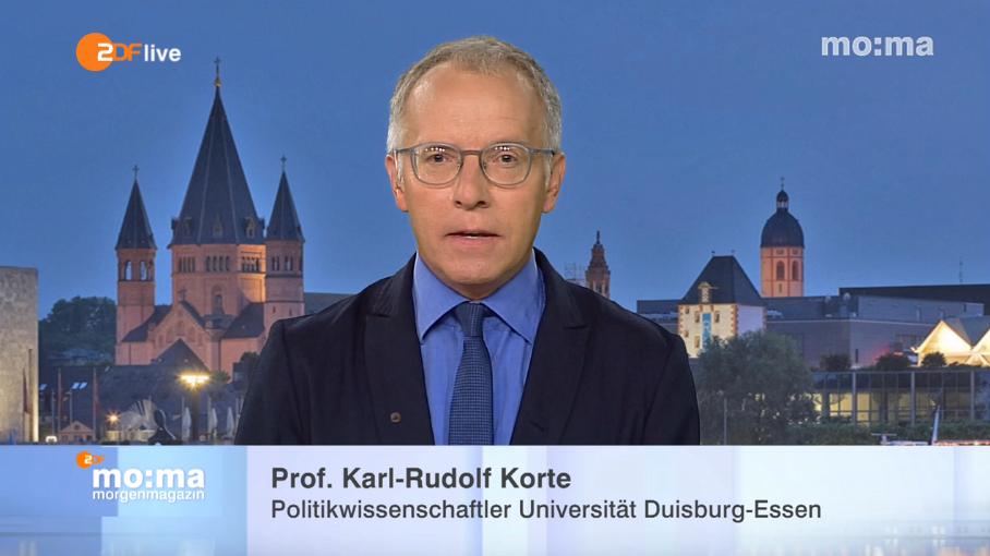 Prof. Dr. Karl-Rudolf Korte zu Gast im ZDF-Morgenmagazin (c)ZDF