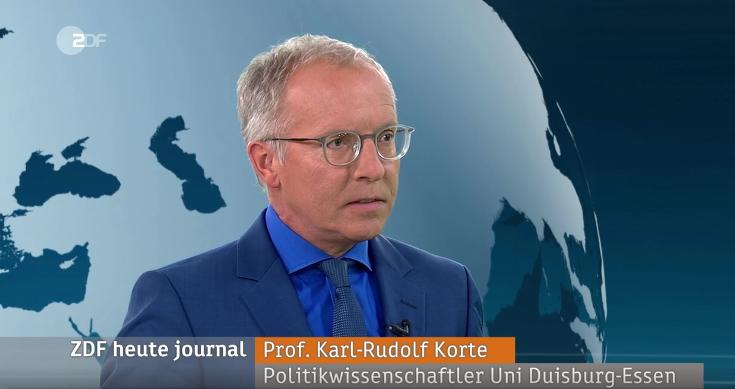 Karl-Rudolf Korte zu Gast im ZDF heute-journal (c) ZDF