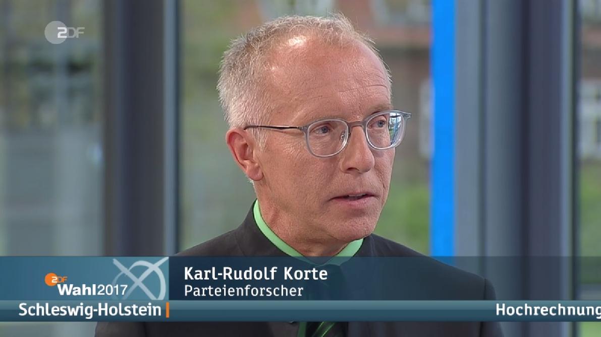 Im Interview zur Wahl in Schleswig-Holstein: Karl-Rudolf Korte. (c) ZDF